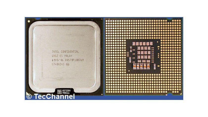 Core 2 Duo E8500: Der 45-nm-Dual-Core-Prozessor für den Sockel LGA775 arbeitet mit 3,16 GHz Taktfrequenz und einem FSB1333. Den beiden Kernen stehen insgesamt 6 MByte L2-Cache zur Verfügung.