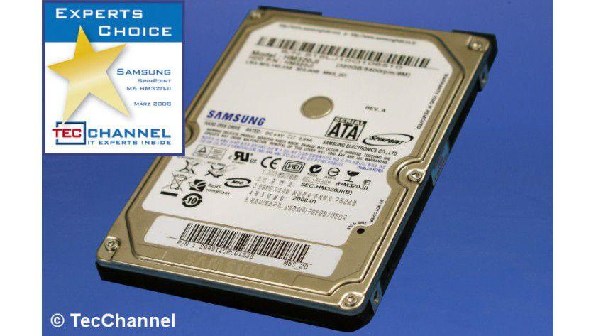 Samsung SpinPoint M6 HM320JI: 320 GByte Kapazität