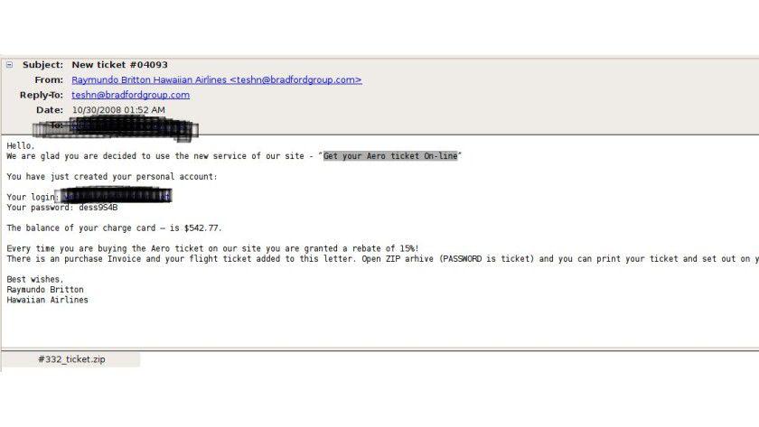 Spam-Welle: Vorsicht vor Nachrichten dieser Art.