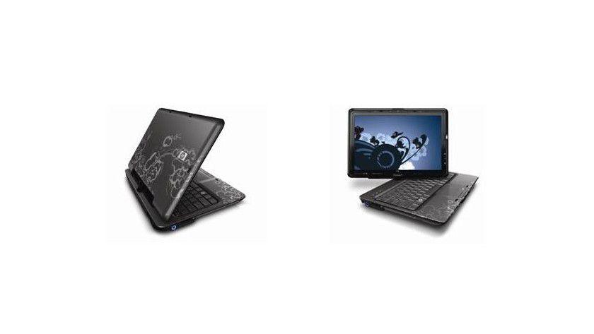 HP TouchSmart tx2: Der Tablet PC im Convertible-Format ist mit einem Multitouch-Display ausgerüstet. (Quelle: Hewlett Packard)
