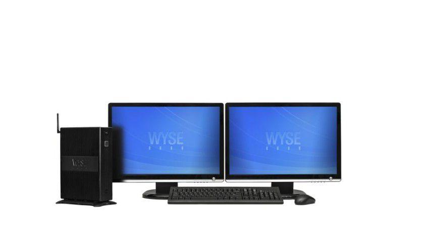 Dünner Client, aber dicke Monitore: Wyse Thin-Clients unterstützen Dual-Display Betrieb. (Quelle: Wyse)