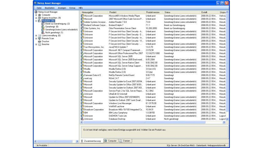 Netop Asset Control: Per Remote-Scan ein kompletter Überblick über die netzwerkweit installierte Software.