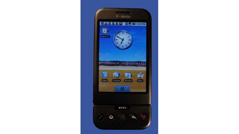 Hype-Maschine: Das T-Mobile G1 mit Google Android als Betriebssystem.