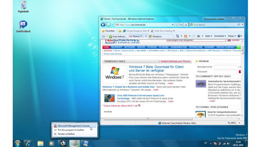 Vista-Evolution: Die offizielle Beta von Windows 7.