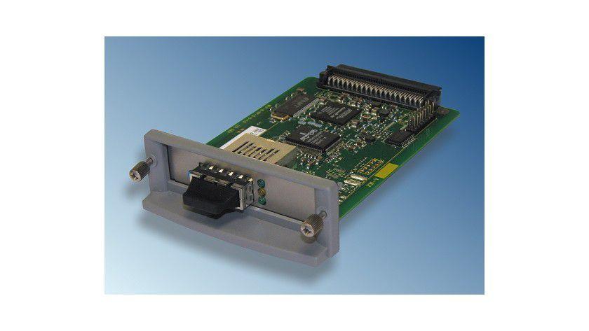SEH Printserver PS1126: Mit dem neuen Printserver lassen sich HP-Drucker in Glasfasernetze einbinden. (Quelle: SEH)