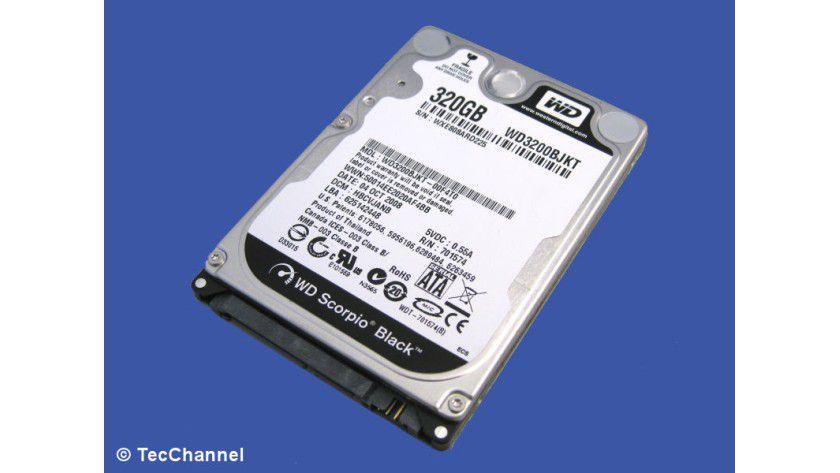 Western Digital Scorpio Black WD3200BJKT: 320 GByte Kapazität
