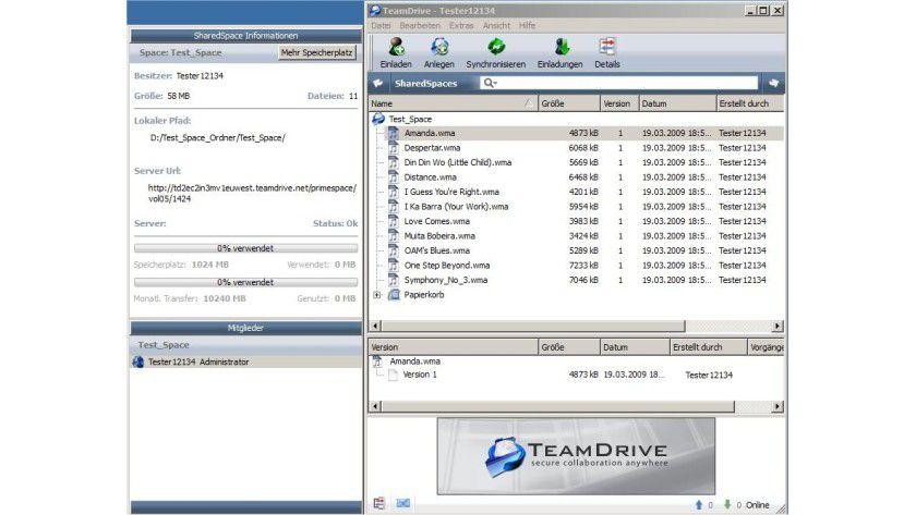 TeamDrive: Mit Hilfe des Tools können entsprechende Nutzer weltweit ihre Daten per Internet über ein sogenannten zentralen Shared Space abgleichen.