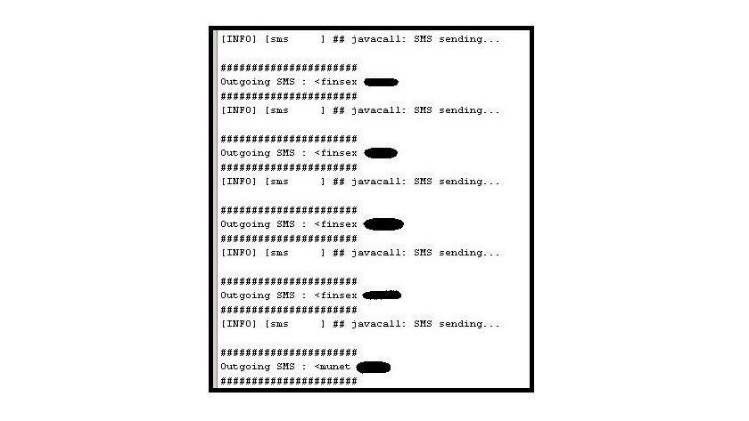 SMS-Versender: Nach der Infektion schickt die Malware regelmäßig SMS an teure Premium-Dienste. (Quelle: CA)