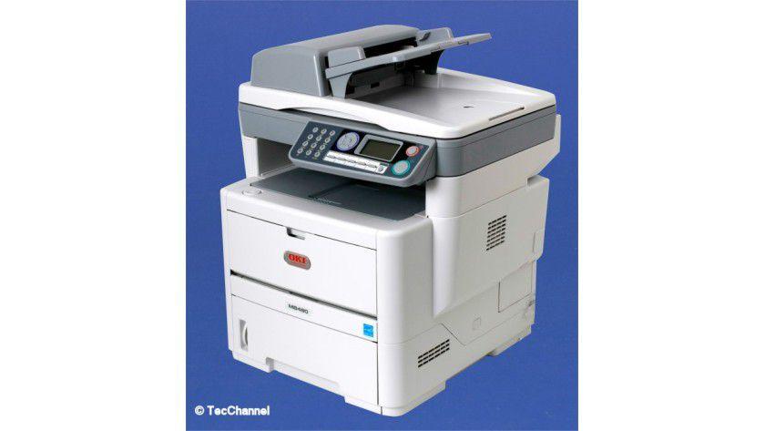 OKI MB480: Das 4-in-1-Multifunktionsgerät ist mit einem 28-Seiten-LED-Druckwerk ausgerüstet.