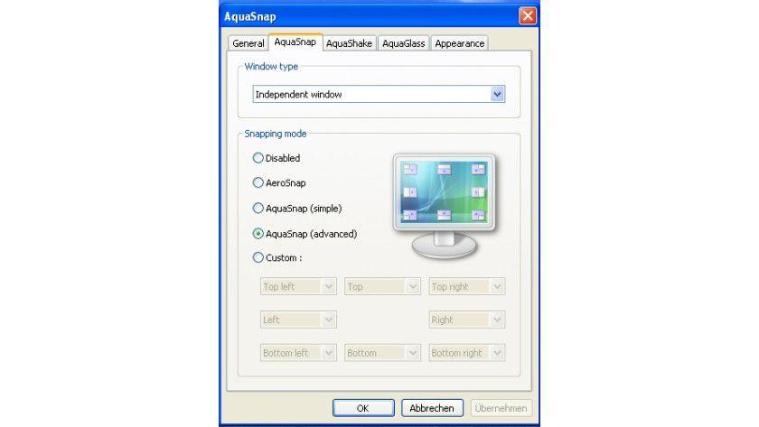AquaSnap: Das Tool bringt erweiterte Aero-Funktionen in alle Windows-Betriebssysteme.
