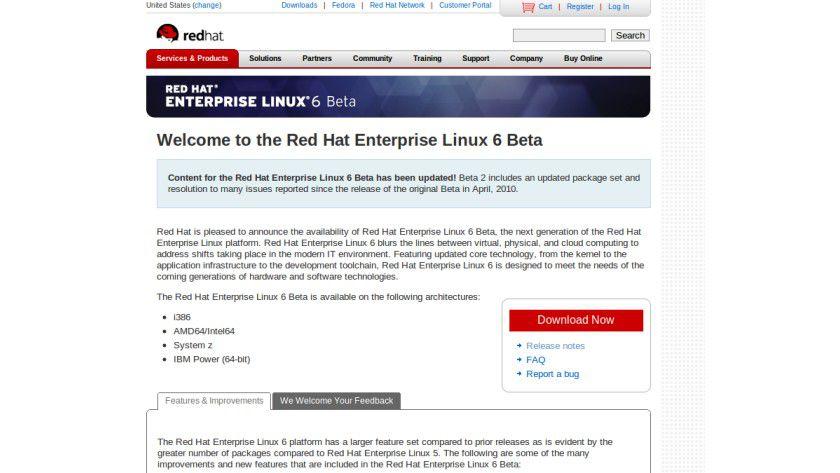 Red Hat: Ab sofort steht die zweite Beta-AUsgabe von RHEL 6.0 zum Testen bereit.
