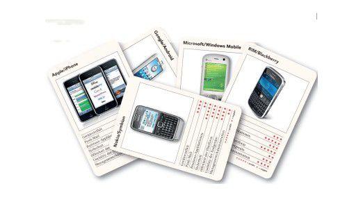 Nokia, RIM und Microsoft haben mit Apple iPhone und Googles Android-Plattform harte Konkurrenz bekommen.