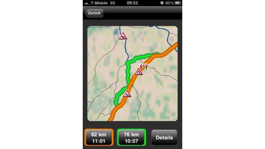 Die Apps verwandeln das iPhone 3G und 3GS sowie auch das iPhone 4 in ein vollwertiges Navigationssystem.