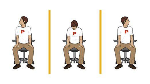Übung für die Halswirbelsäule.