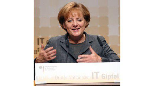 Die Bundeskanzlerin auf dem IT-Gipfel 2009 in Stuttgart.