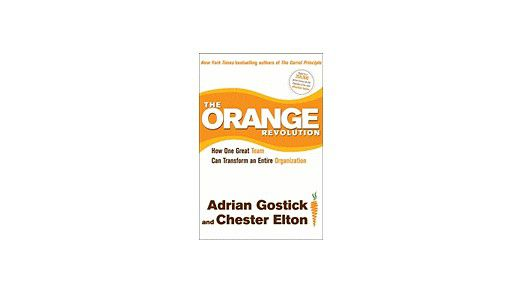 """The Orange Revolution: How Great Teams Can Transform an Organization"" von Adrian Gostick und Chester Elton."