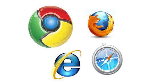 Welcher Browser soll es sein? Kaum verwendet wird Safari, obwohl er am schwächsten leckt.