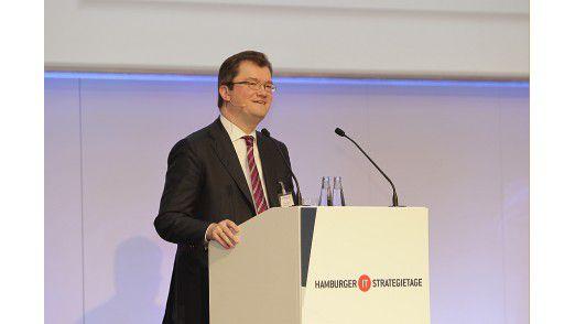 Peter Leukert, hier ein Foto von den Hamburger IT-Strategietagen, wechselt zu FIS und Capco.