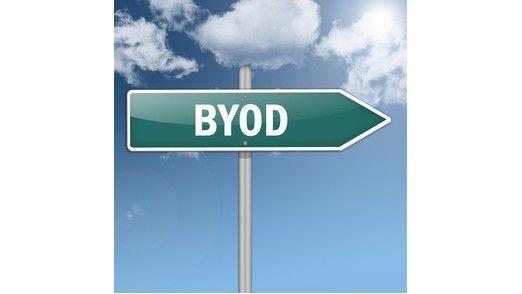 Ausfahrt BYOD verboten: 29 Prozent der Firmen verbieten ihren Mitarbeitern die berufliche Nutzung privater Endgeräte.