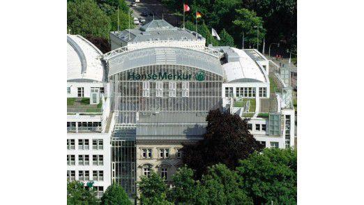 Das HanseMerkur-Gebäude in Hamburg.