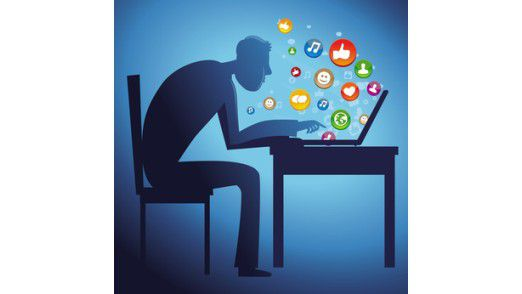 Vielen Befragten mangelt es noch an einem souveränen Umgang mit Social Media am Arbeitsplatz.