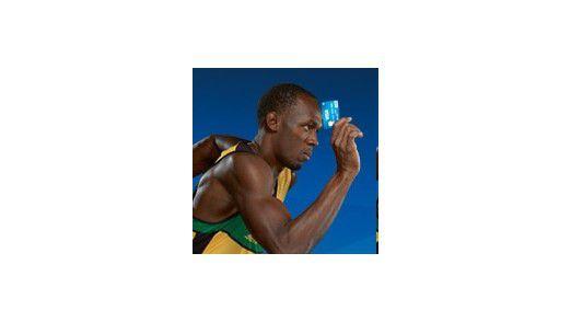 Auch der Rennläufer Usain Bolt benützt Visa. Kreditkarten werden vor allem in großen Online-Shops bevorzugt angeboten.