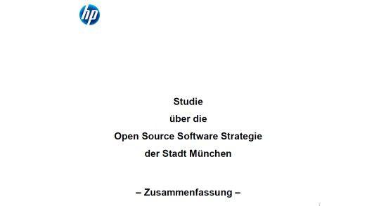 Deckblatt der umstrittenen Studie (Zusammenfassung) von HP für Microsoft.