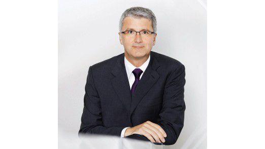 """Audi-Chef Rupert Stadler: """"Wir werden beide Status-Symbole - Auto und Smartphone - sauber vernetzen."""""""