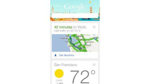 Google Now ist ein Datensammler der relevante Informationen abhängig vom jeweiligen Ort anzeigen kann. Und es klappt überraschend gut.