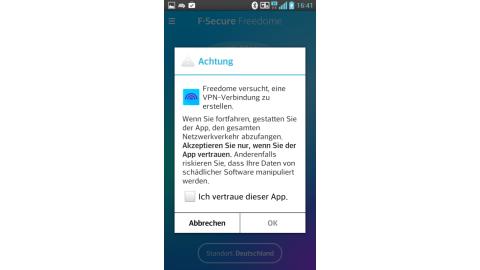 Sicherheits-App F-Secure Freedome im Test - Foto: Moritz Jäger