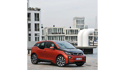 In Deutschland noch selten anzutreffen: BMWs Elektroauto i3.