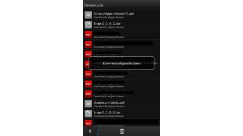 Android-Apps auf dem Blackberry