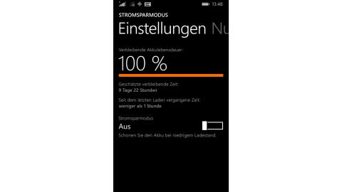 Längerer Akkulaufzeit für Windows Phone 8.1