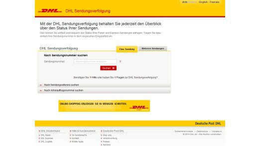dhl sendungsverfolgung deutsche post r umt fehler auf dhl seite ein. Black Bedroom Furniture Sets. Home Design Ideas