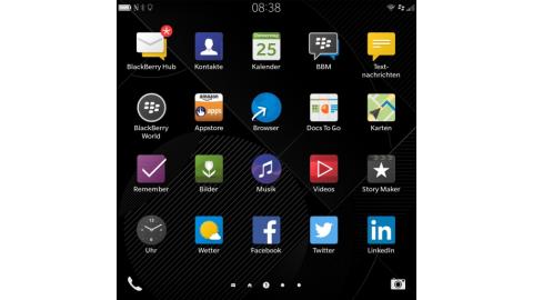 Blackberry OS 10.3 auf dem Blackberry Passport